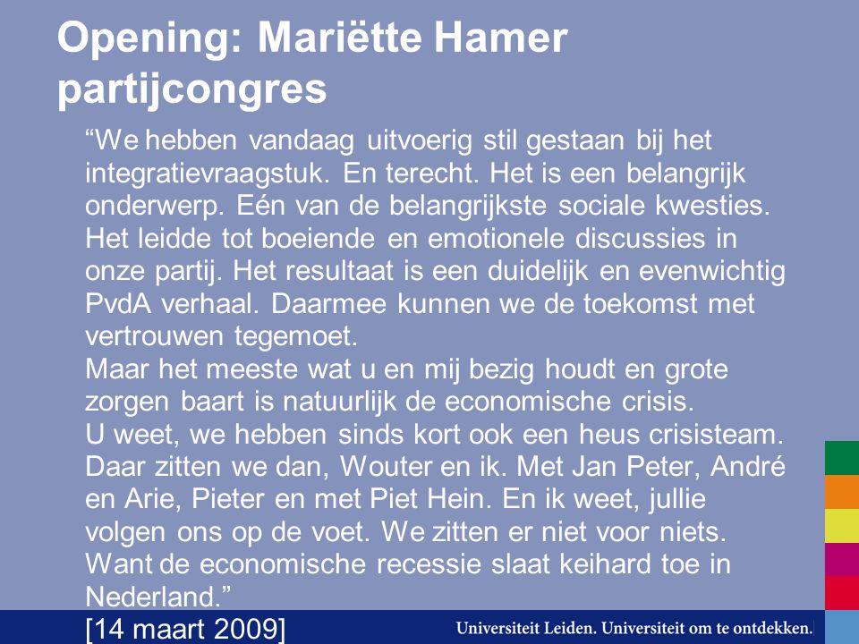 Opening: Mariëtte Hamer partijcongres