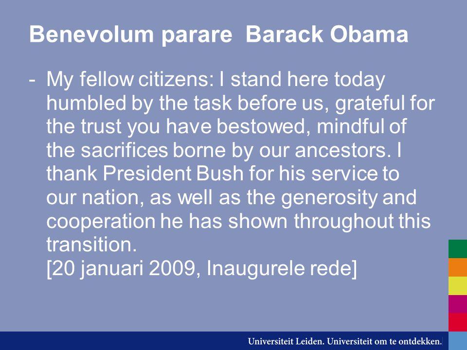 Benevolum parare Barack Obama