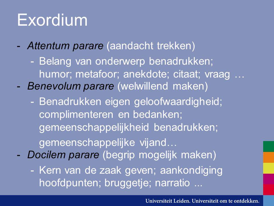 Exordium Attentum parare (aandacht trekken)