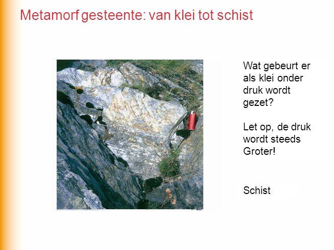 Metamorf gesteente: van klei tot schist