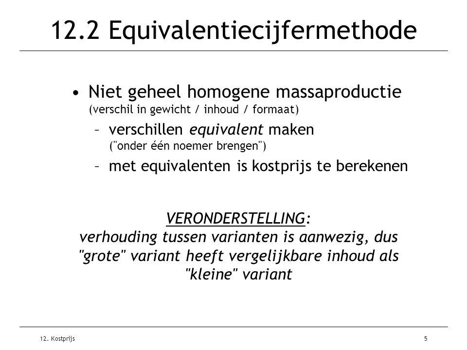 12.2 Equivalentiecijfermethode