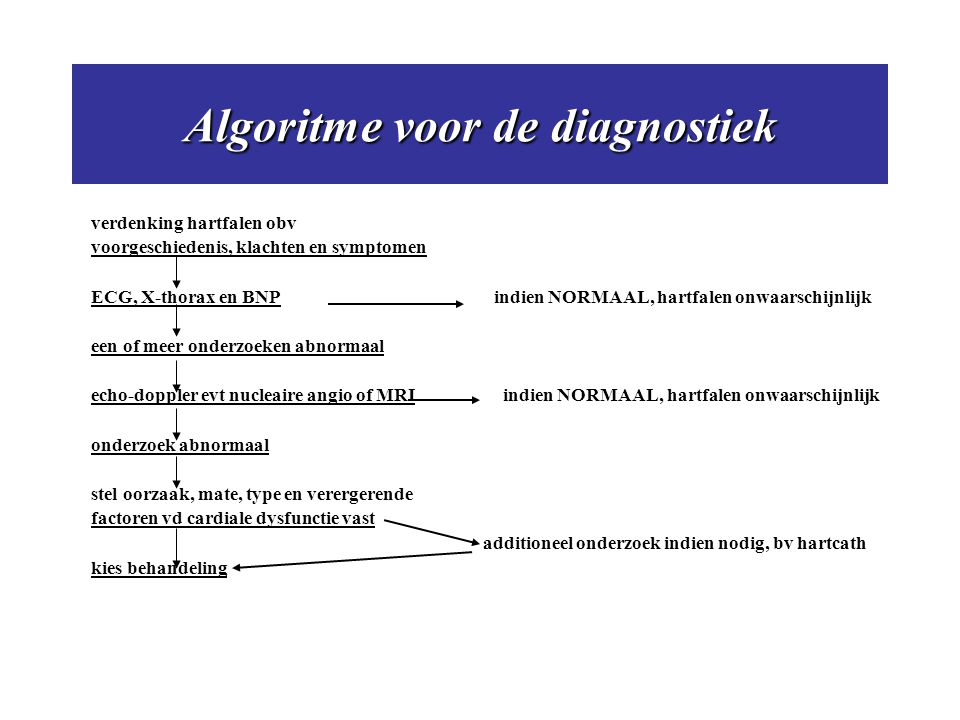 Algoritme voor de diagnostiek