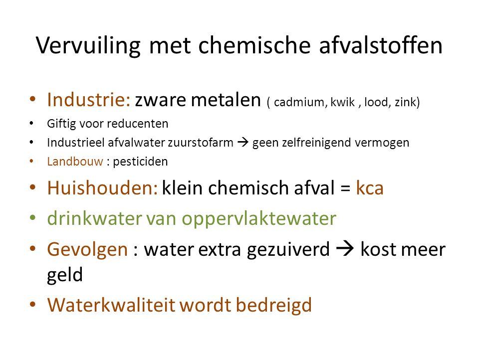 Vervuiling met chemische afvalstoffen
