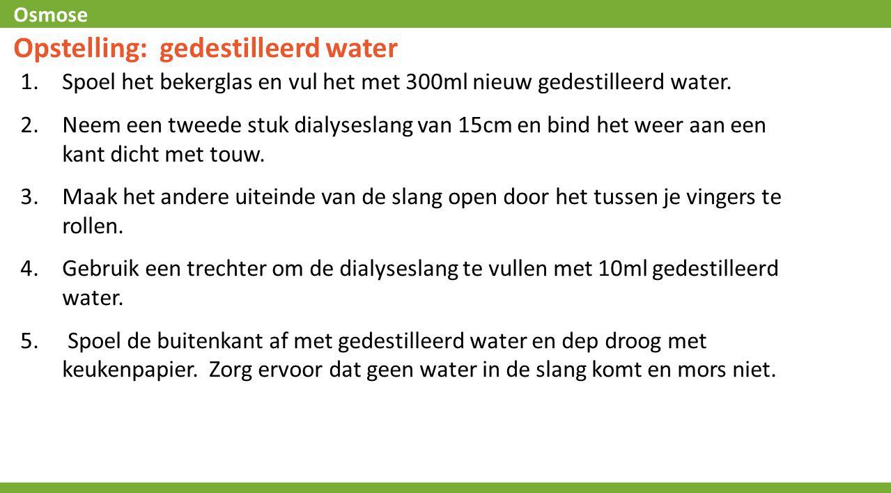 Opstelling: gedestilleerd water