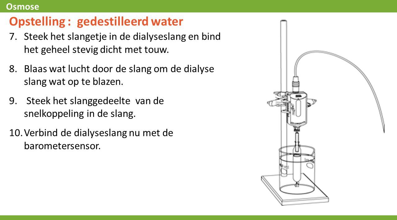 Opstelling : gedestilleerd water