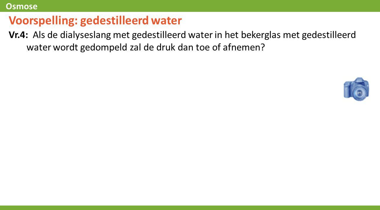 Voorspelling: gedestilleerd water