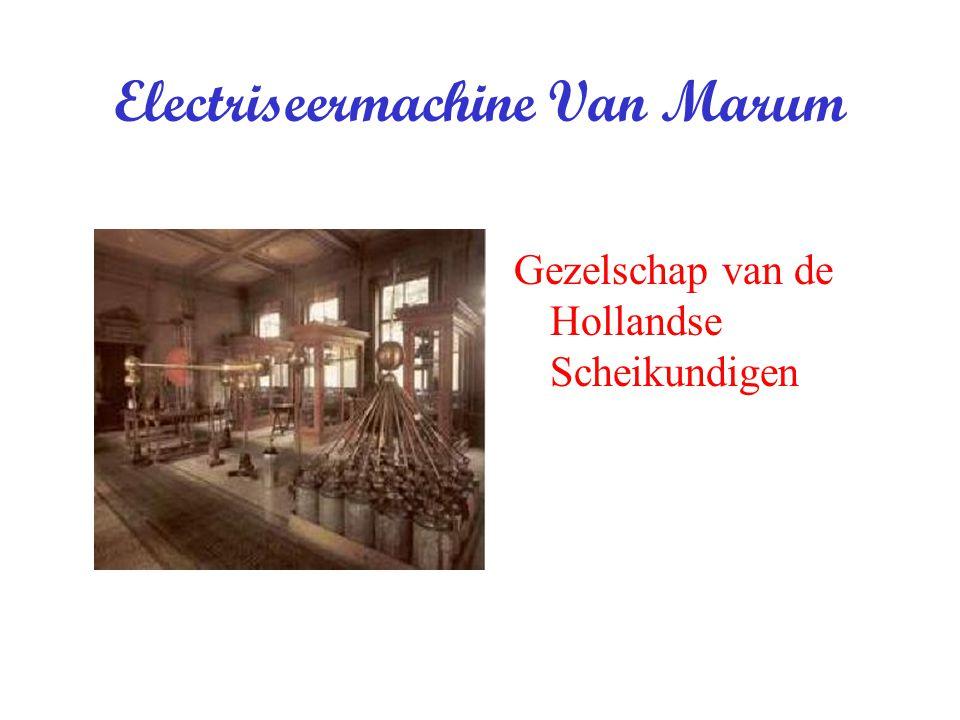 Electriseermachine Van Marum