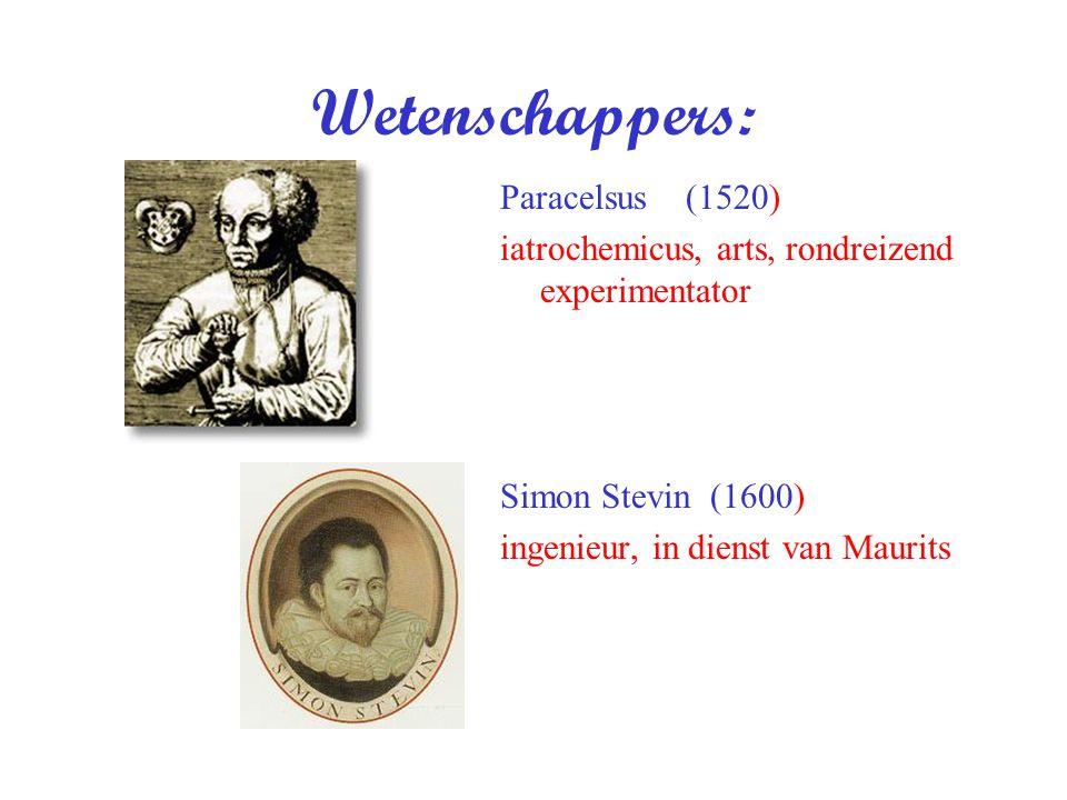 Wetenschappers: Paracelsus (1520)