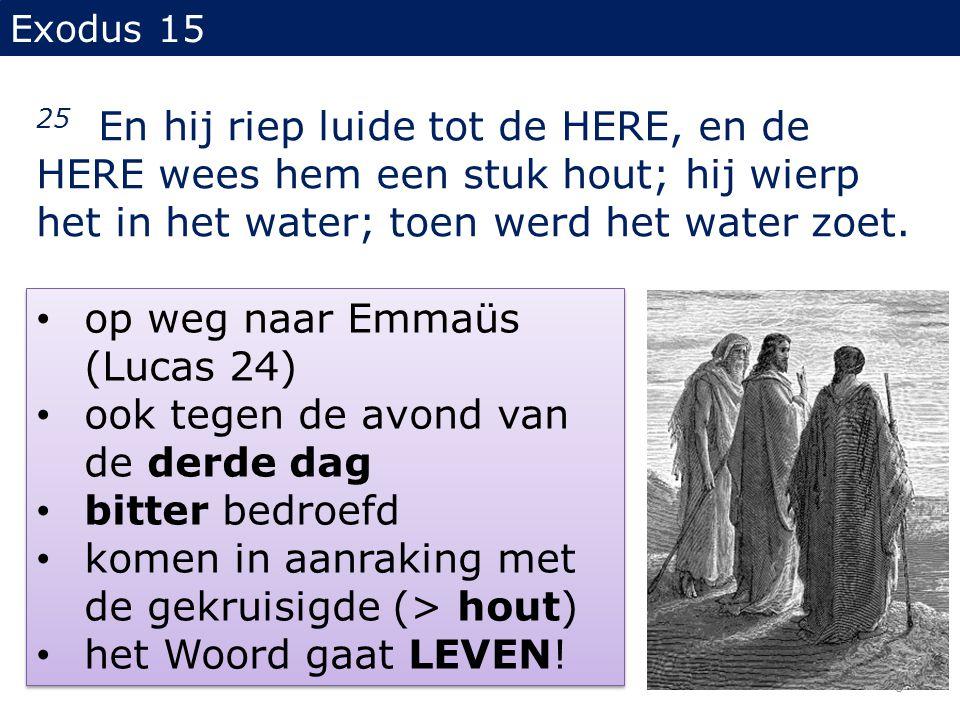 op weg naar Emmaüs (Lucas 24) ook tegen de avond van de derde dag