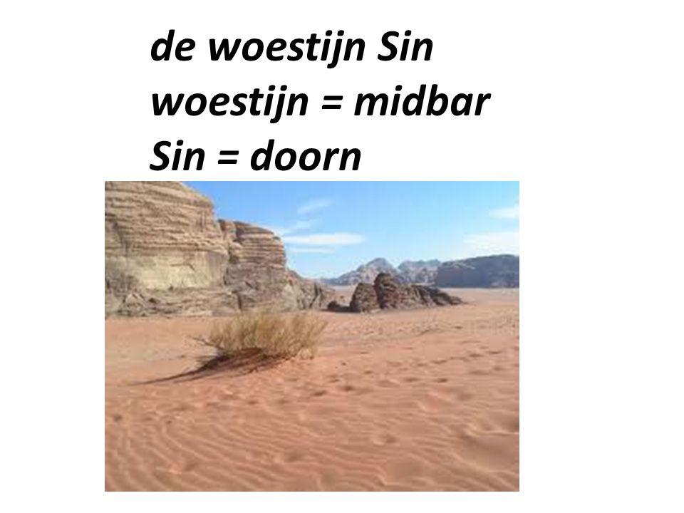 de woestijn Sin woestijn = midbar Sin = doorn