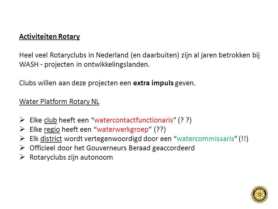 Activiteiten Rotary Heel veel Rotaryclubs in Nederland (en daarbuiten) zijn al jaren betrokken bij.