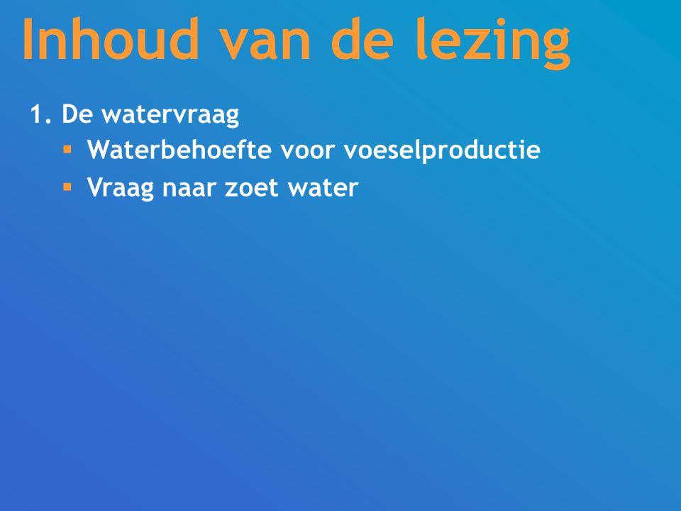 Inhoud van de lezing 1. De watervraag