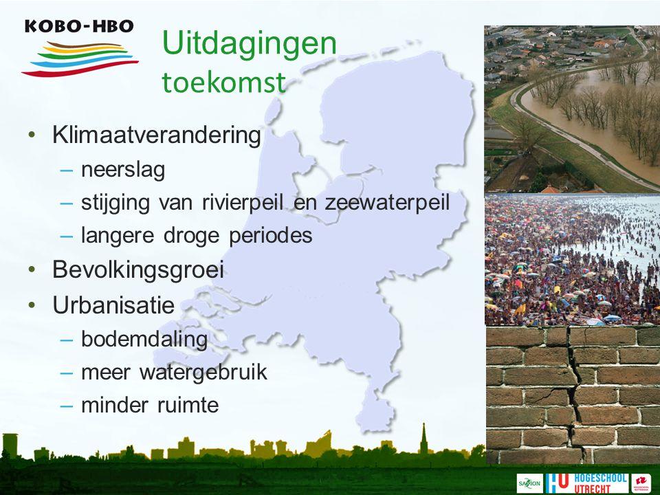Uitdagingen toekomst Klimaatverandering Bevolkingsgroei Urbanisatie