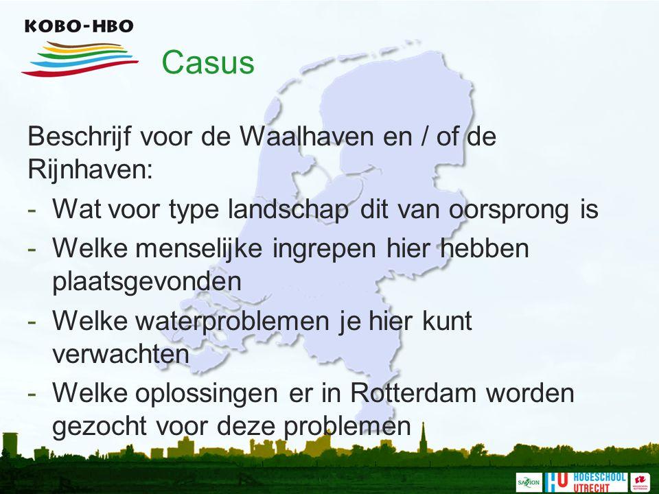 Casus Beschrijf voor de Waalhaven en / of de Rijnhaven: