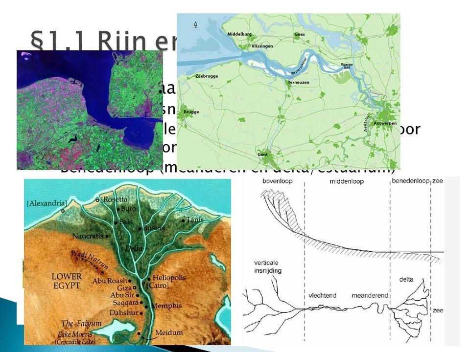 §1.1 Rijn en Maas Rivieren bestaan altijd uit:
