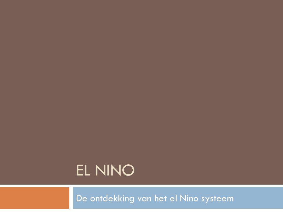 De ontdekking van het el Nino systeem