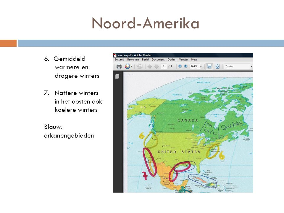 Noord-Amerika 6. Gemiddeld warmere en drogere winters