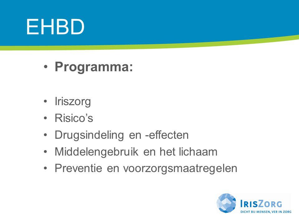 EHBD Programma: Iriszorg Risico's Drugsindeling en -effecten