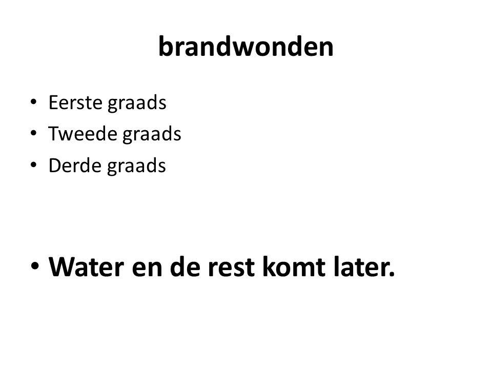 Water en de rest komt later.