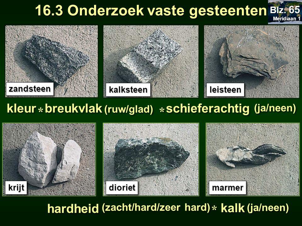 16.3 Onderzoek vaste gesteenten