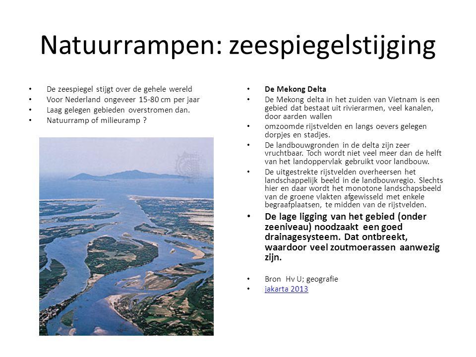 Natuurrampen: zeespiegelstijging