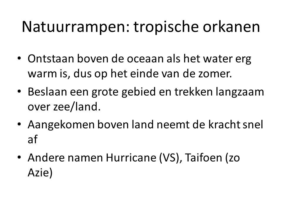 Natuurrampen: tropische orkanen