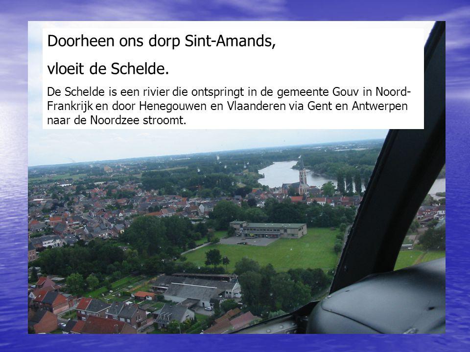 Doorheen ons dorp Sint-Amands, vloeit de Schelde.