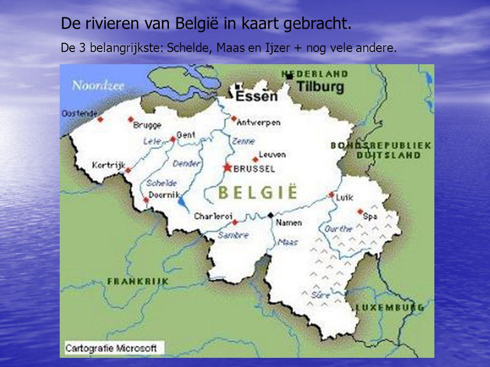 De rivieren van België in kaart gebracht.