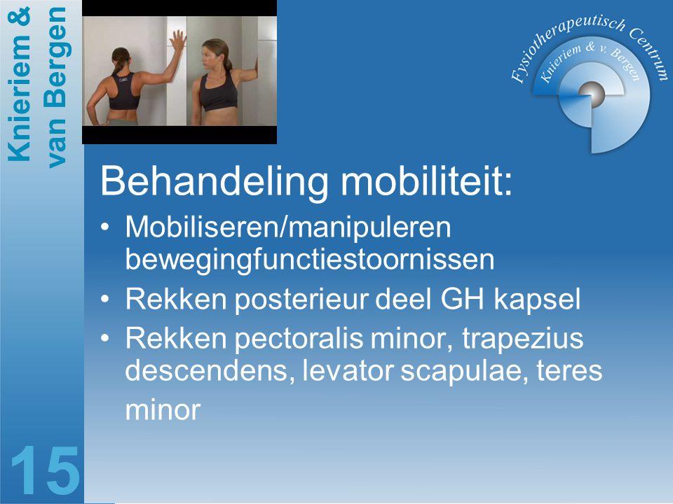 Behandeling mobiliteit: