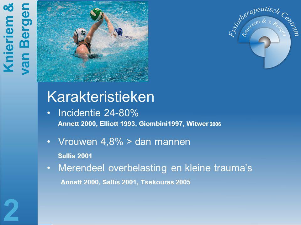 Karakteristieken Incidentie 24-80% Vrouwen 4,8% > dan mannen
