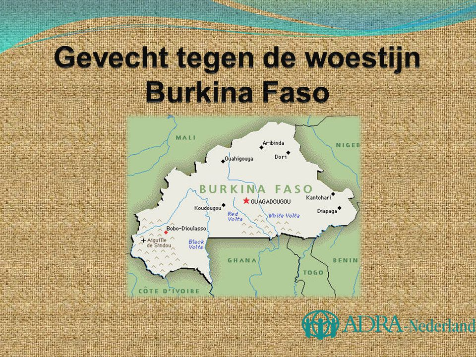 Gevecht tegen de woestijn Burkina Faso