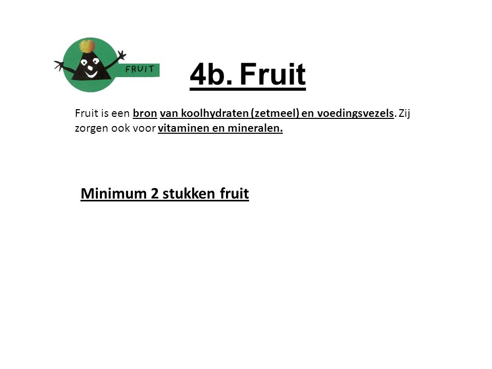 4b. Fruit Minimum 2 stukken fruit