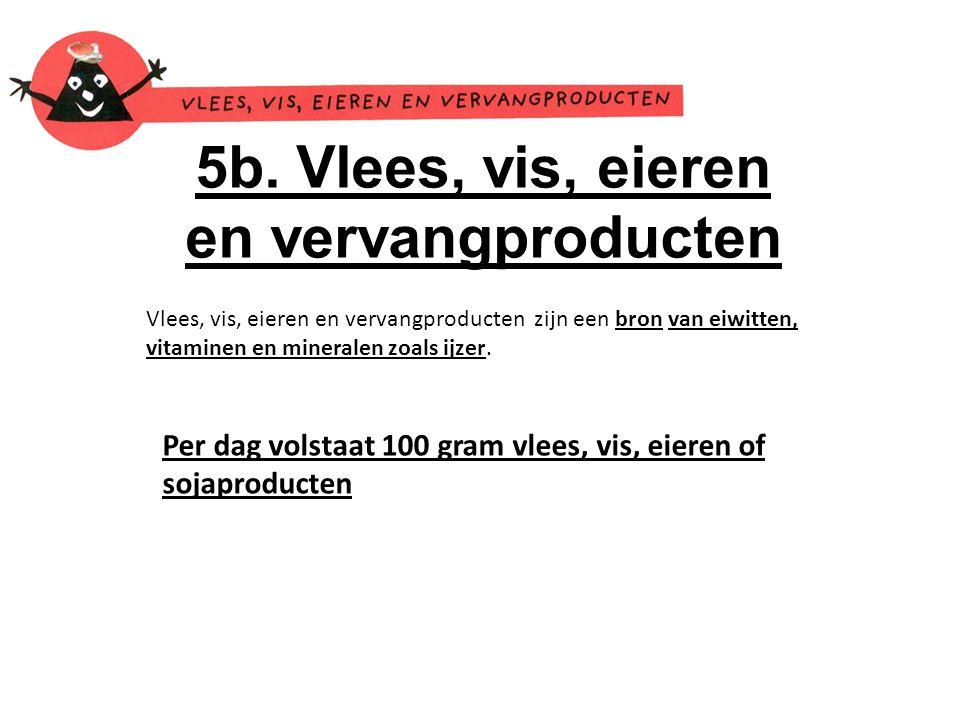 5b. Vlees, vis, eieren en vervangproducten