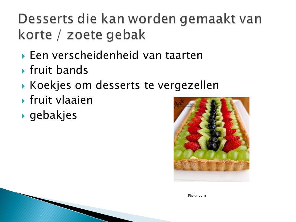 Desserts die kan worden gemaakt van korte / zoete gebak