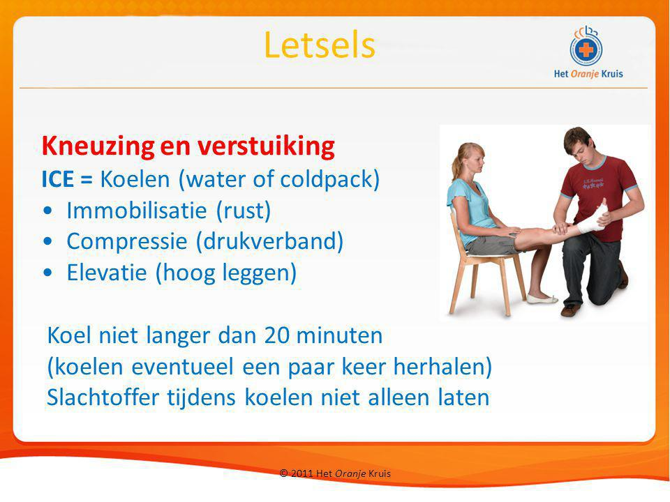 Letsels Kneuzing en verstuiking ICE = Koelen (water of coldpack)