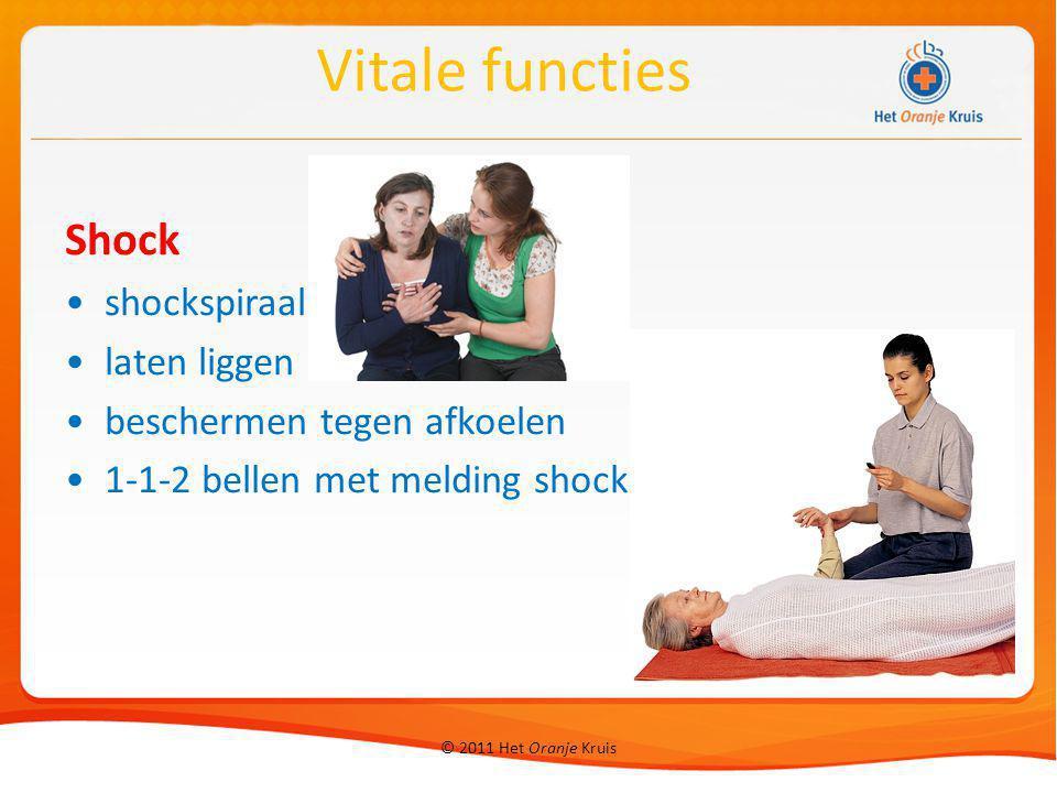 Vitale functies Shock shockspiraal laten liggen