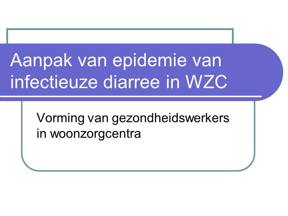 Aanpak van epidemie van infectieuze diarree in WZC