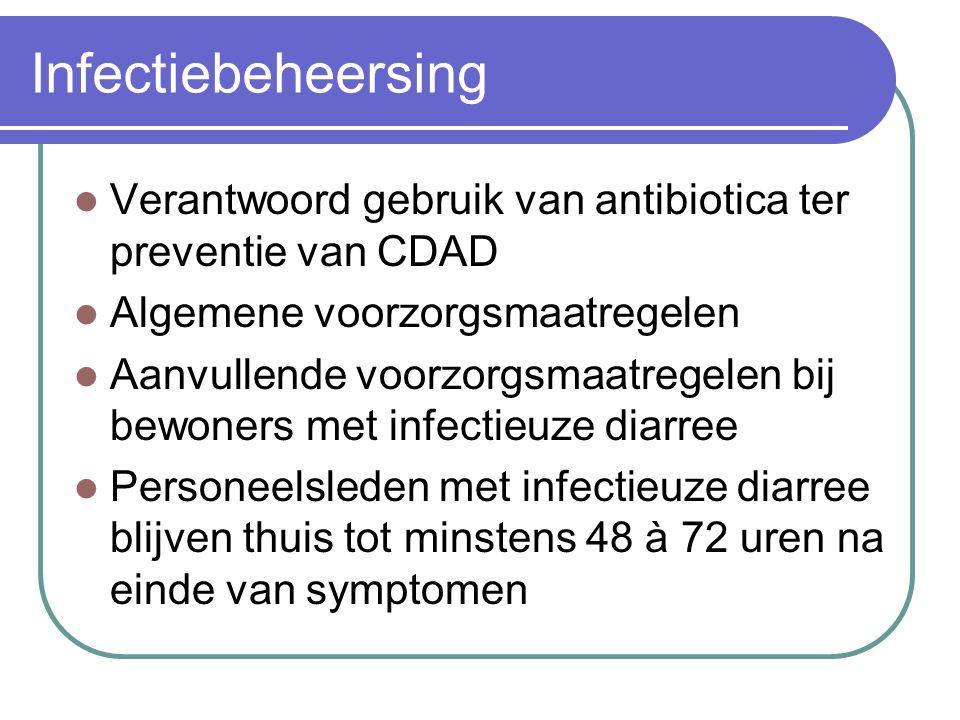 Infectiebeheersing Verantwoord gebruik van antibiotica ter preventie van CDAD. Algemene voorzorgsmaatregelen.