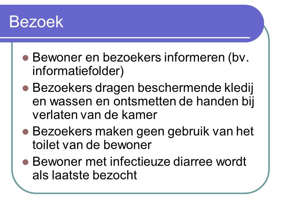 Bezoek Bewoner en bezoekers informeren (bv. informatiefolder)
