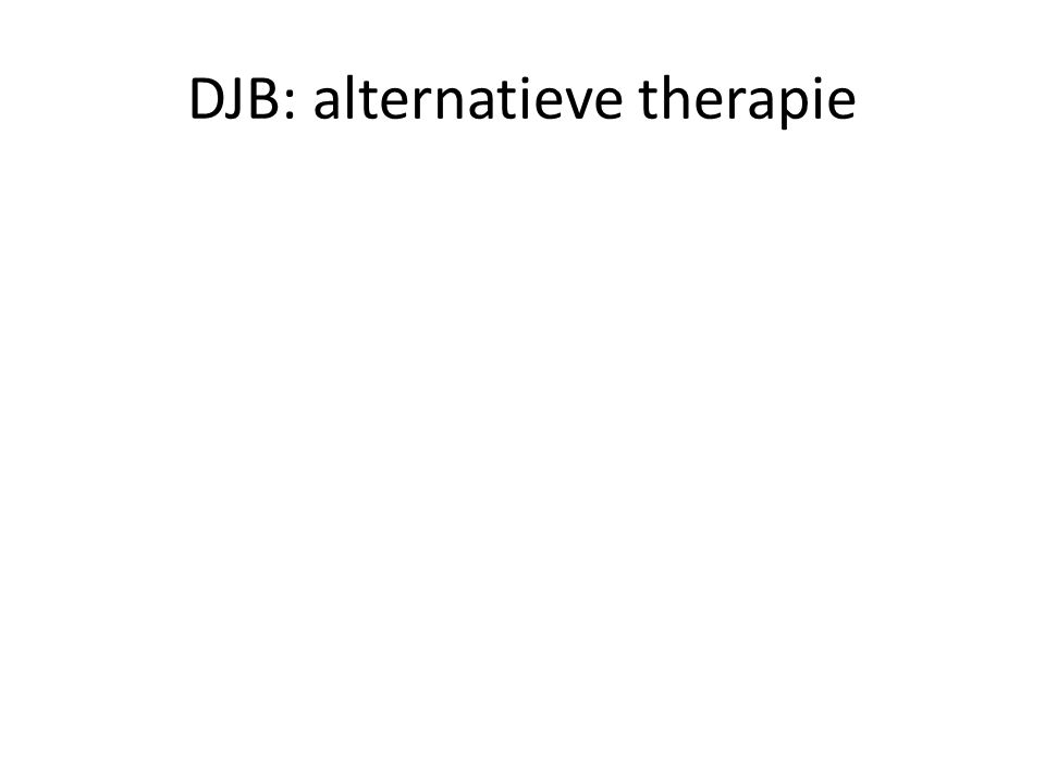 DJB: alternatieve therapie