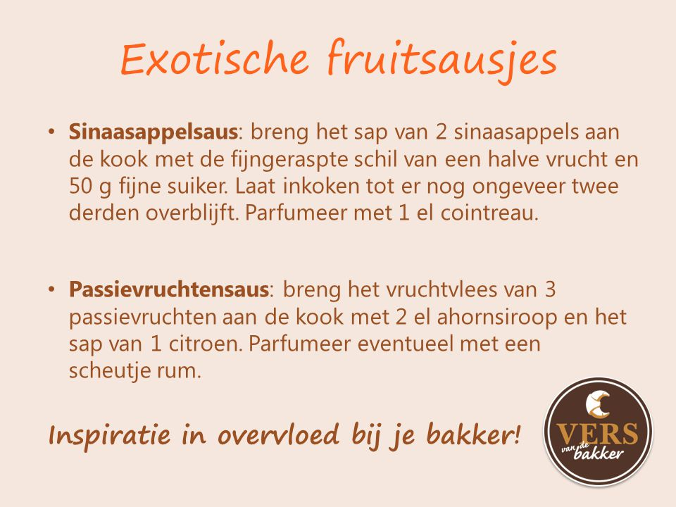 Exotische fruitsausjes