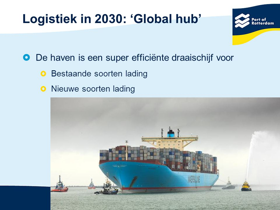 Logistiek in 2030: 'Global hub'