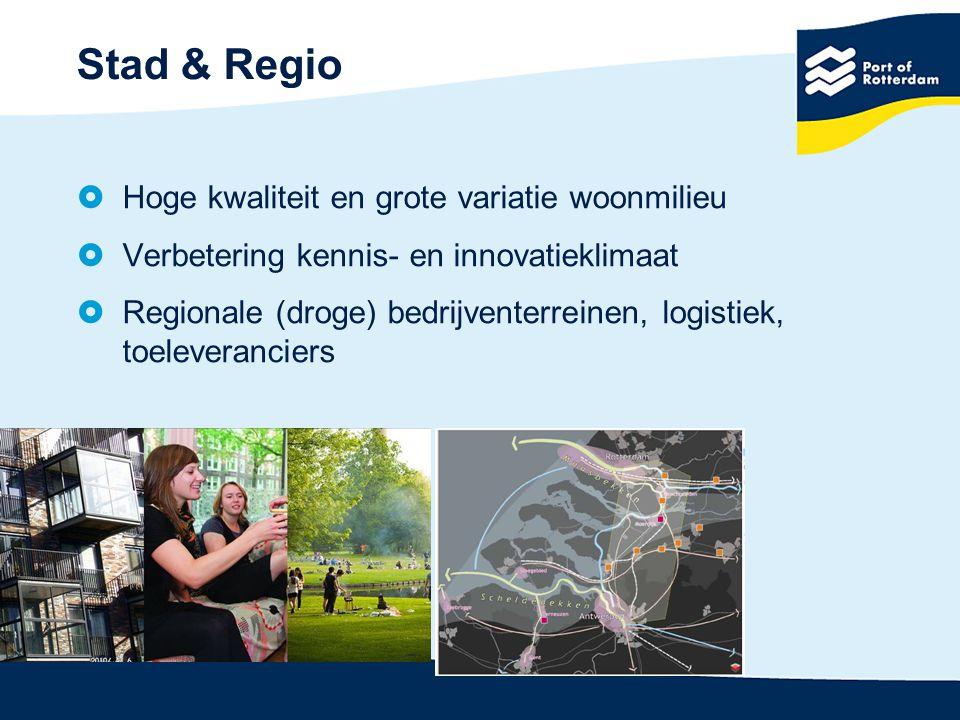Stad & Regio Hoge kwaliteit en grote variatie woonmilieu