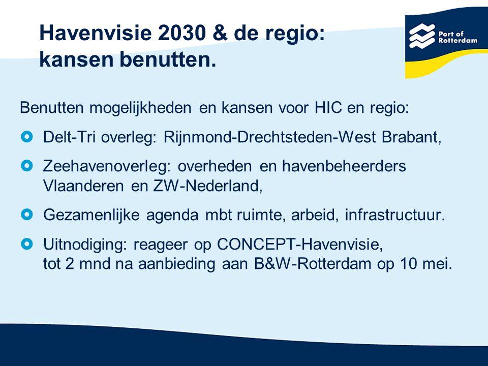 Havenvisie 2030 & de regio: kansen benutten.
