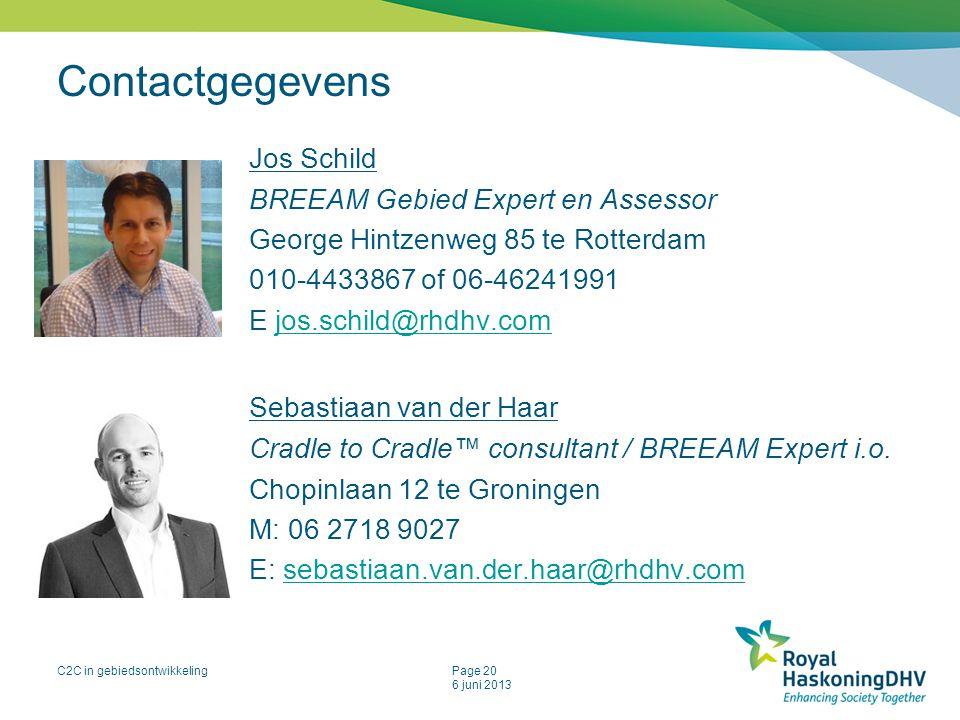 Contactgegevens Jos Schild Sebastiaan van der Haar