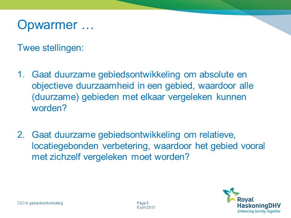 Opwarmer … Twee stellingen: