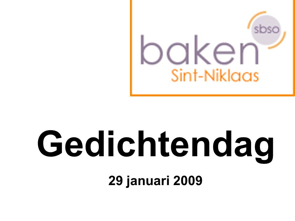 Gedichtendag 29 januari 2009
