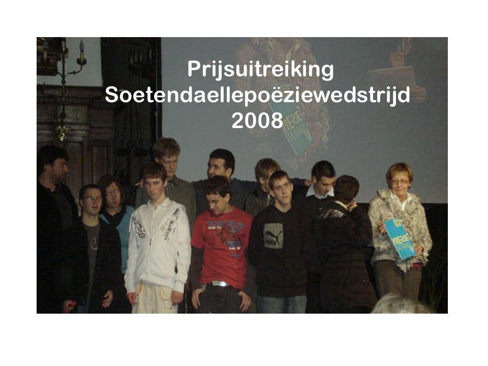 Prijsuitreiking Soetendaellepoëziewedstrijd 2008