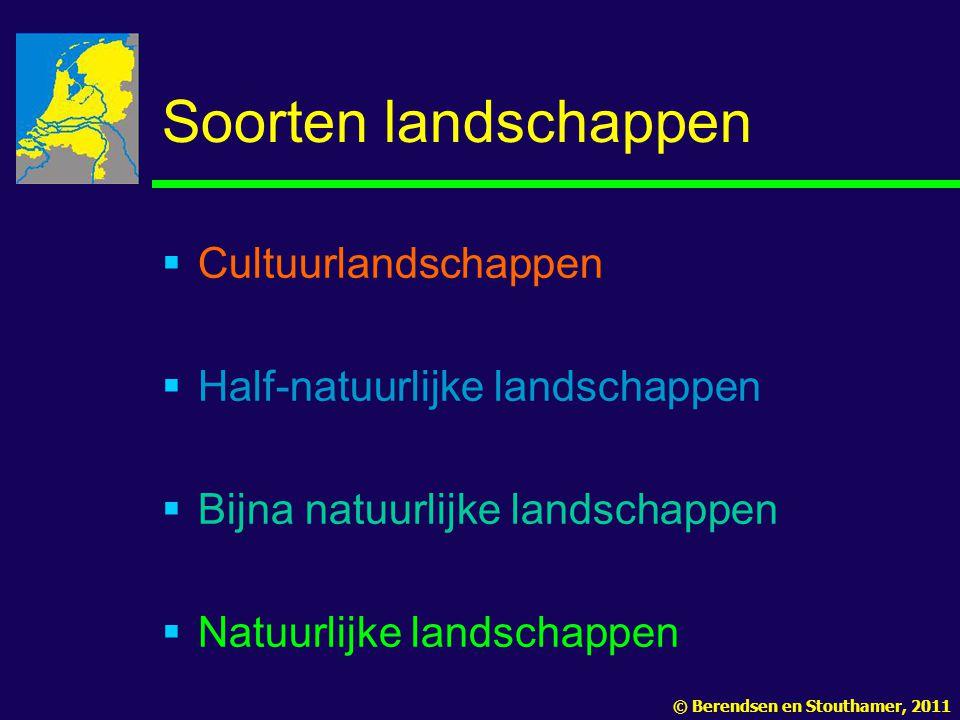 Soorten landschappen Cultuurlandschappen Half-natuurlijke landschappen