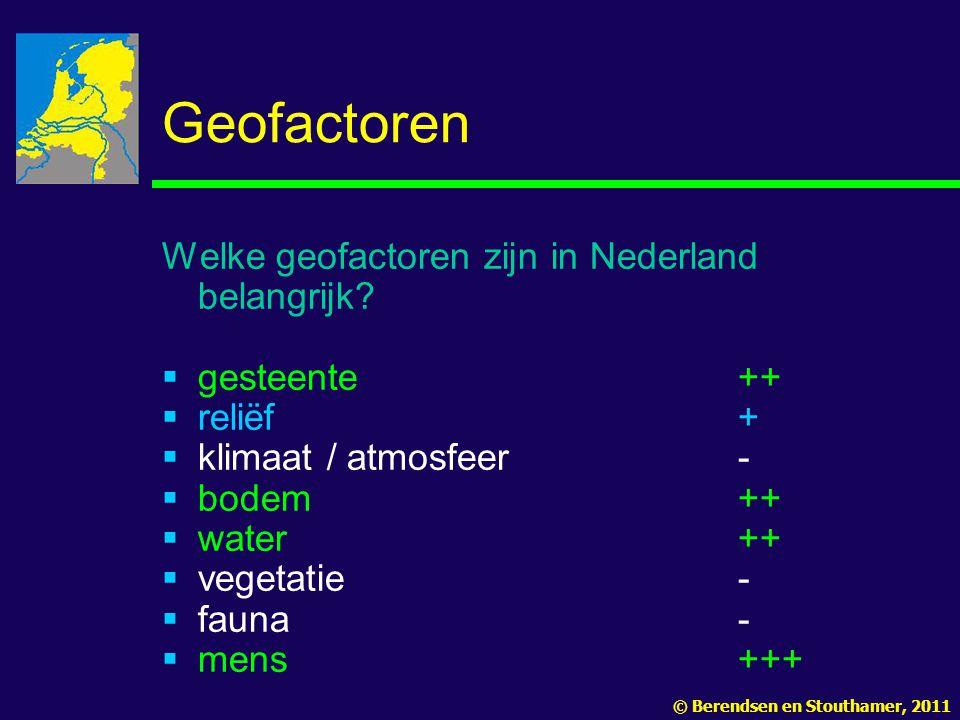 Geofactoren Welke geofactoren zijn in Nederland belangrijk